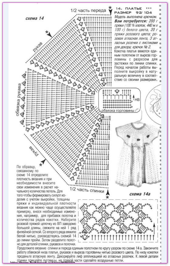 вязание сарафана ребенку года схема