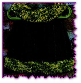 Темно-зеленое платье для девочки 1-1,5 лет